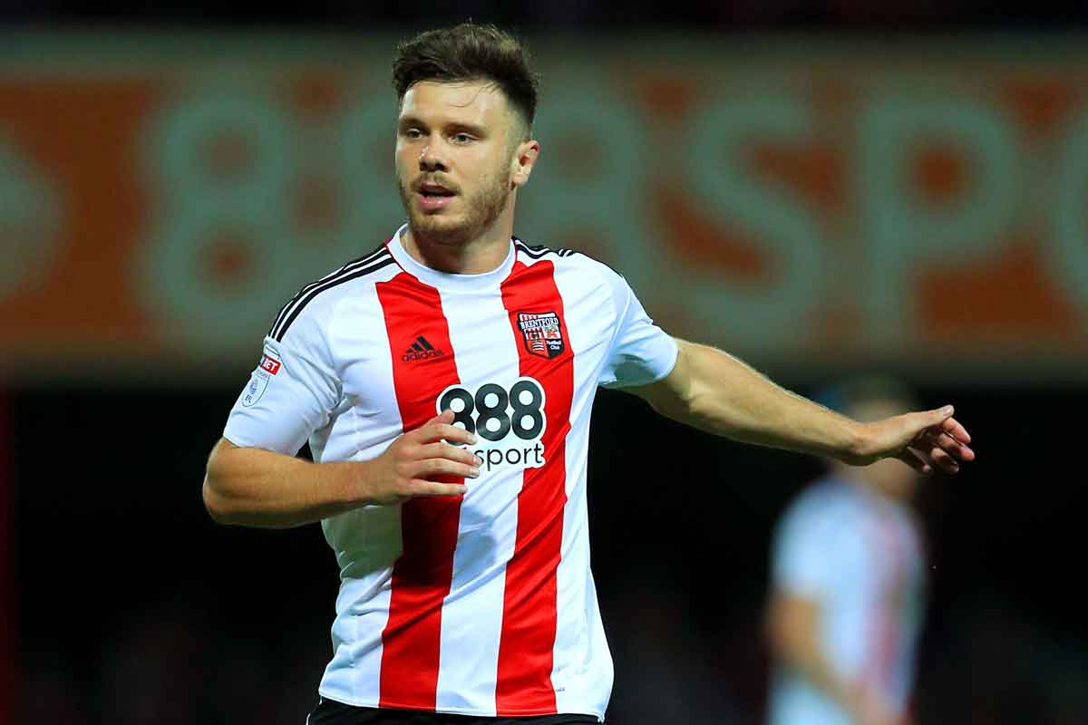 Brentford striker Scott Hogan, a West Ham target