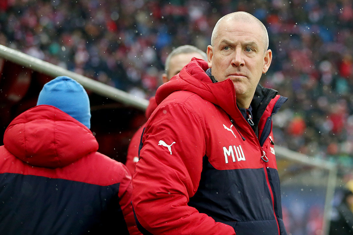 Glasgow's coach Mark Warburton, photographed during the soccer test match between RB Leipzig and Glasgow Rangers at the Red Bull Arena in Leipzig, Germany, 15 January 2017. Photo: Jan Woitas/dpa-Zentralbild/dpa
