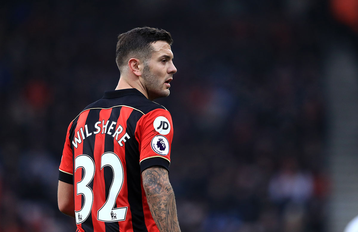 Jack Wilshere is on loan at Bournemouth from Arsenal