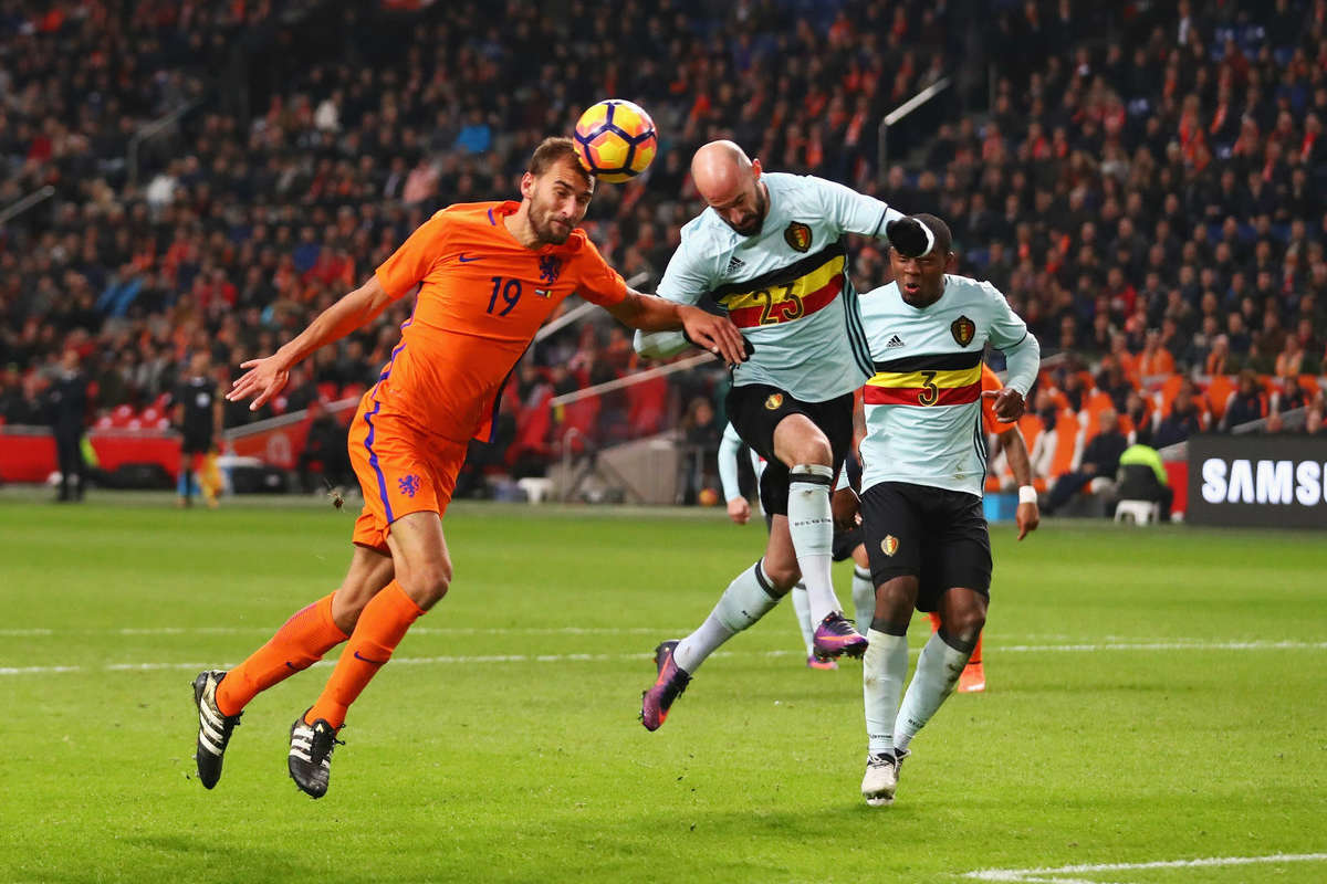 Bas Dost in action for Holland