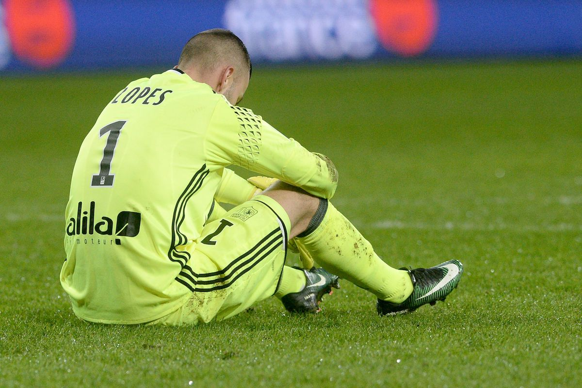 There was nothing Anthony Lopes could do about Guingamp's two goals.
