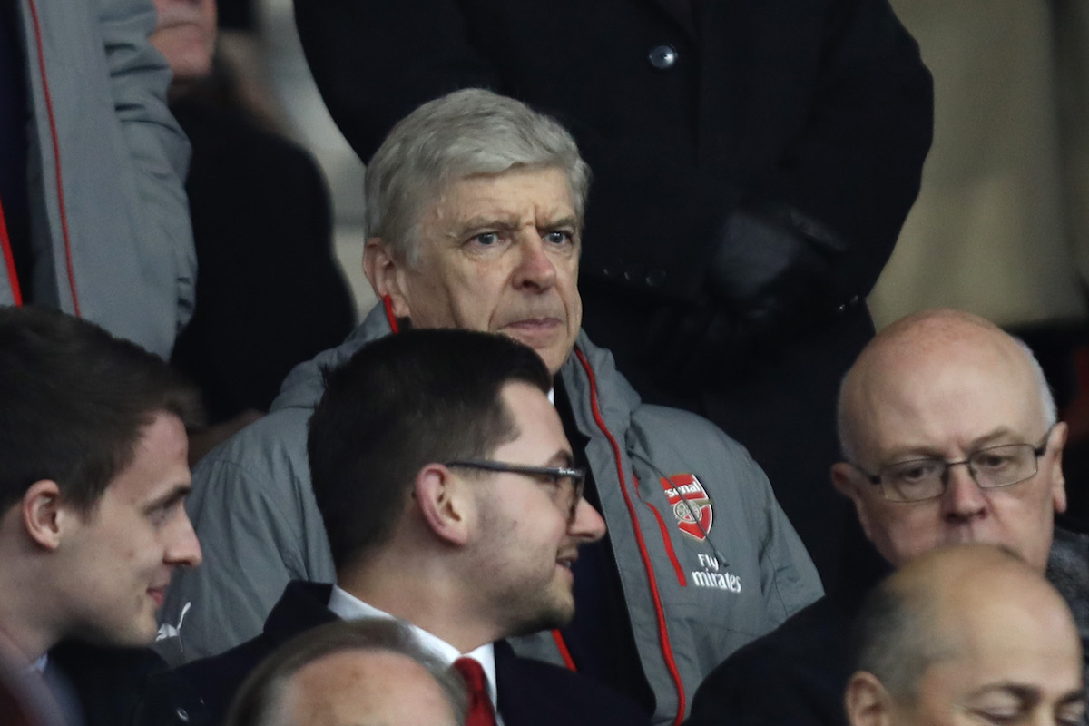 Arsene Wenger, Manager of Arsenal looks on from the stands during the Emirates FA Cup Fourth Round match between Southampton and Arsenal