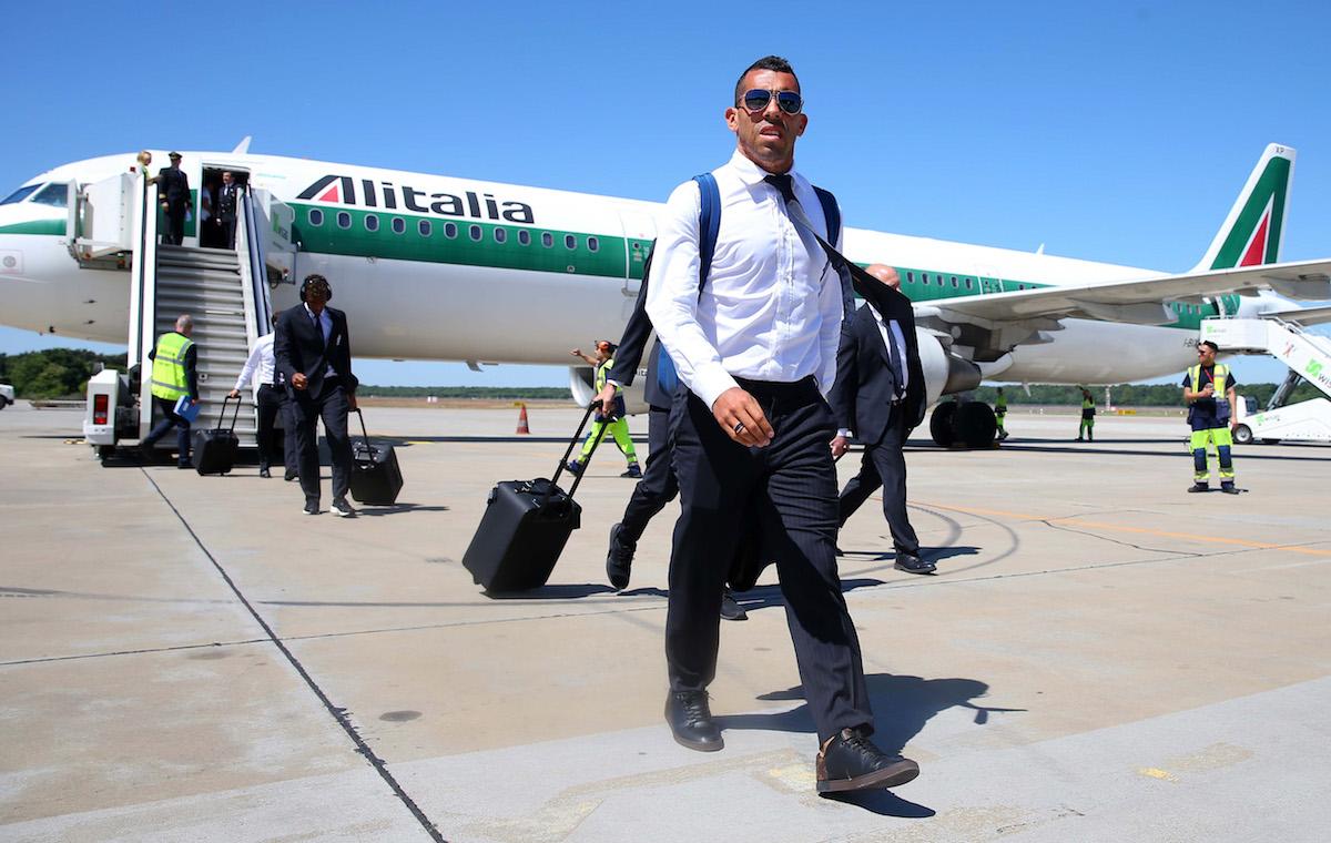 Argentina striker Carlos Tevez in China