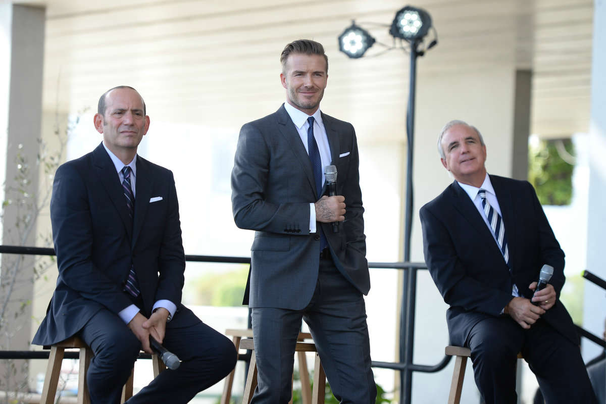 David Beckham announcing his plans for a Miami MLS franchise