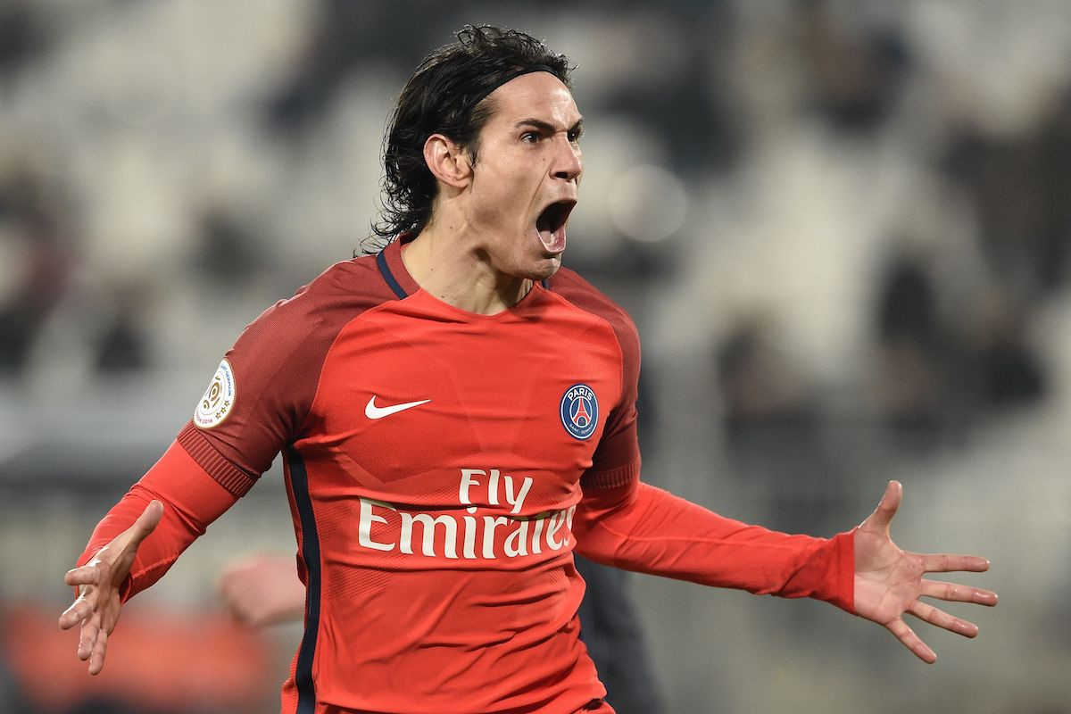 Edinson Cavani scored his 25th goals for PSG in Ligue 1 this season.