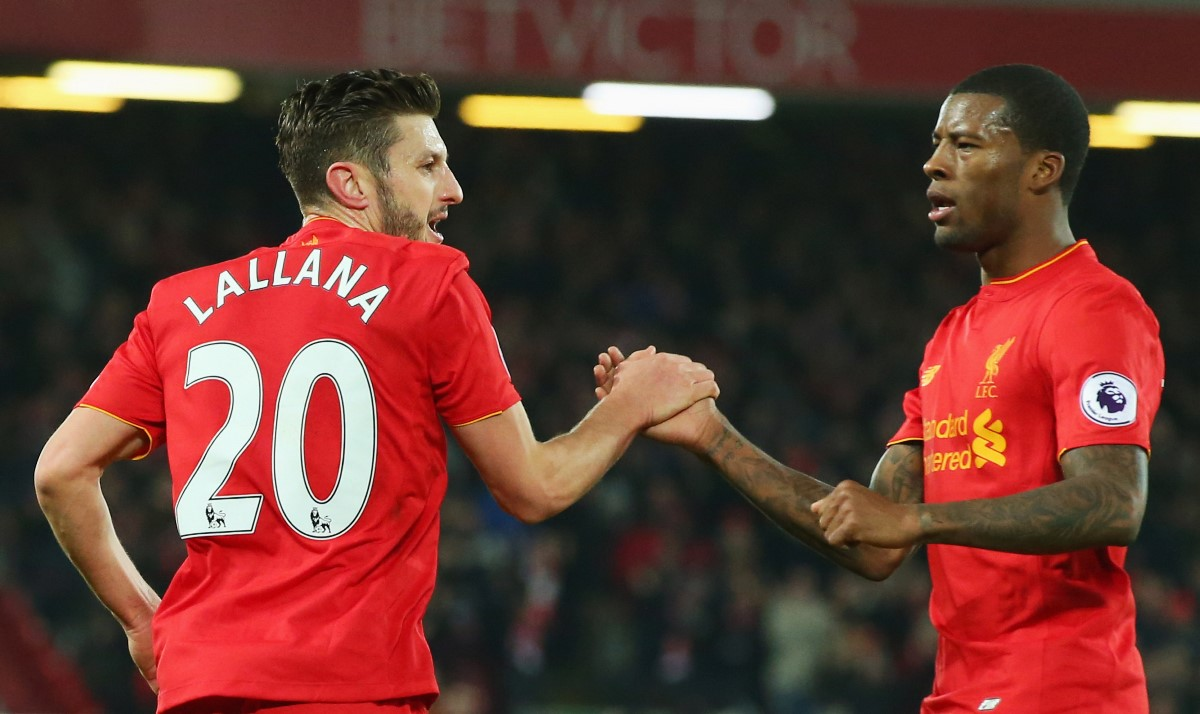 Georginio-Wijnaldum has linked up well with Adam Lallana