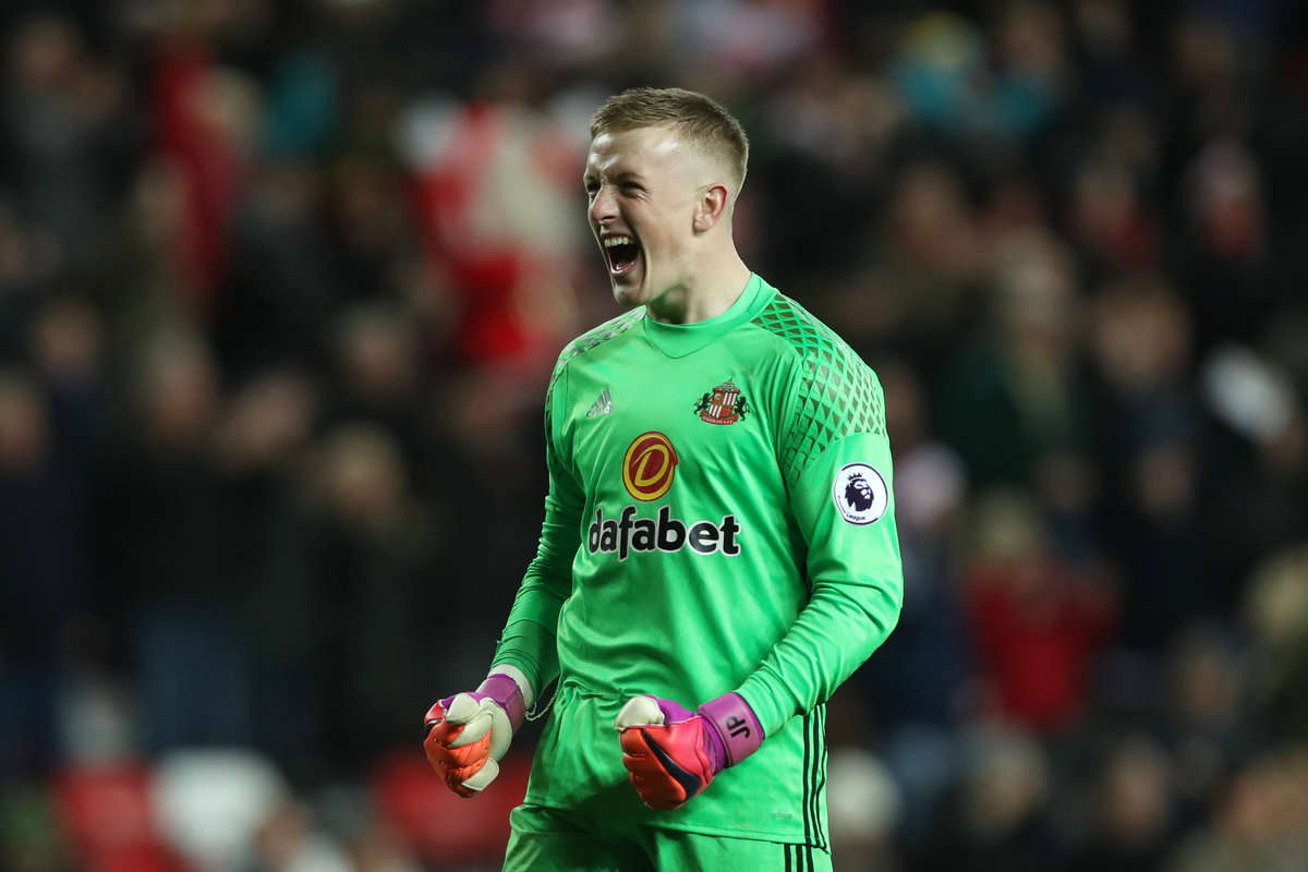 Sunderland goalkeeper Jordan Pickford