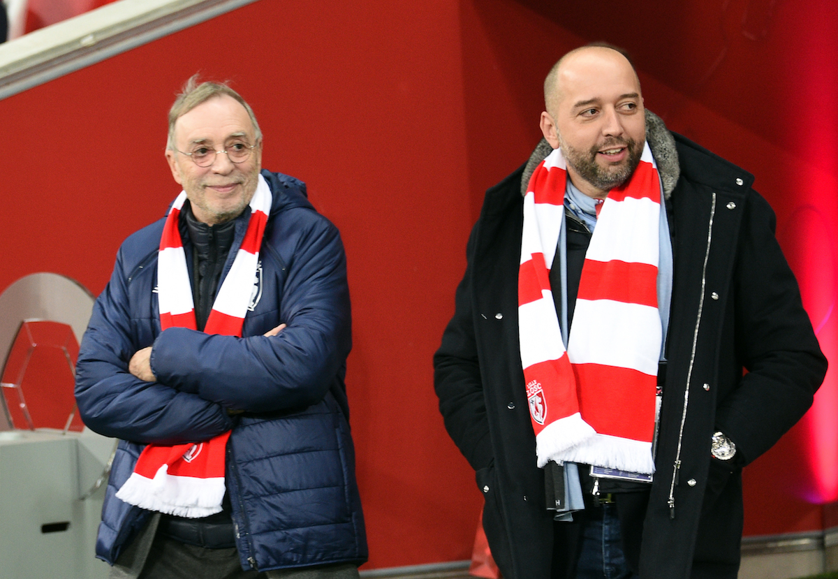 Gerard Lopez has bought Lille from Michel Seydoux (left)
