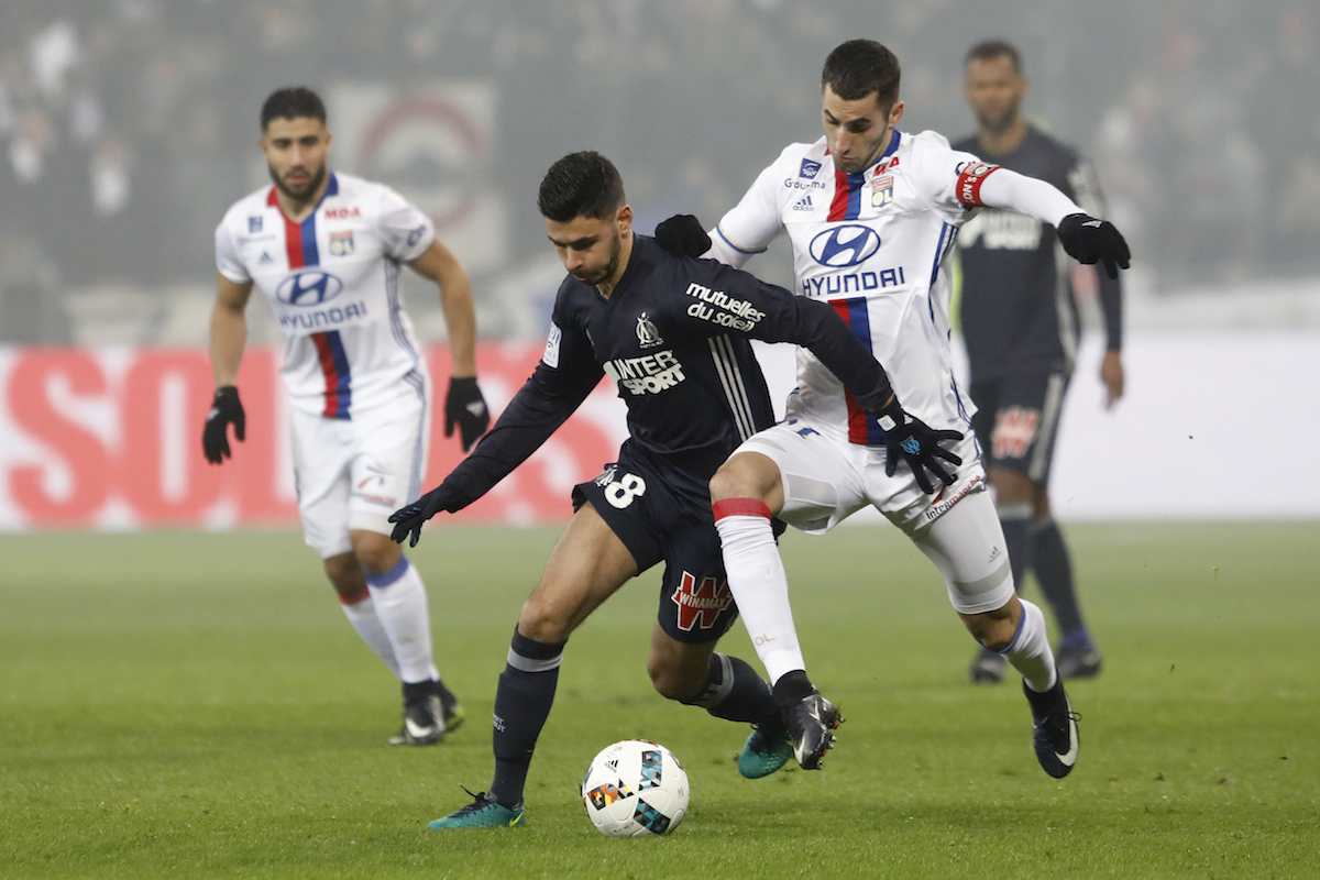 Morgan Sanson playing for Marseille