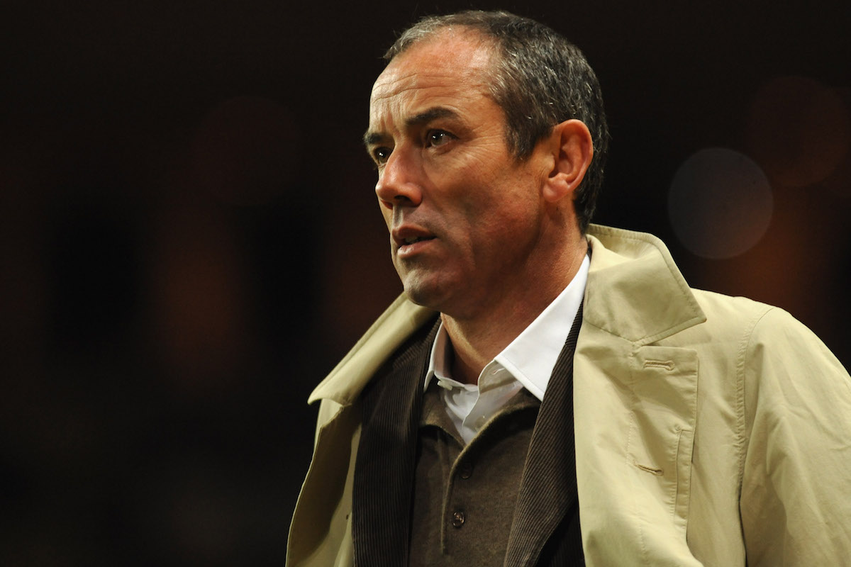 Paul Le Guen looks on during the International Friendly match between Italy and Cameroon
