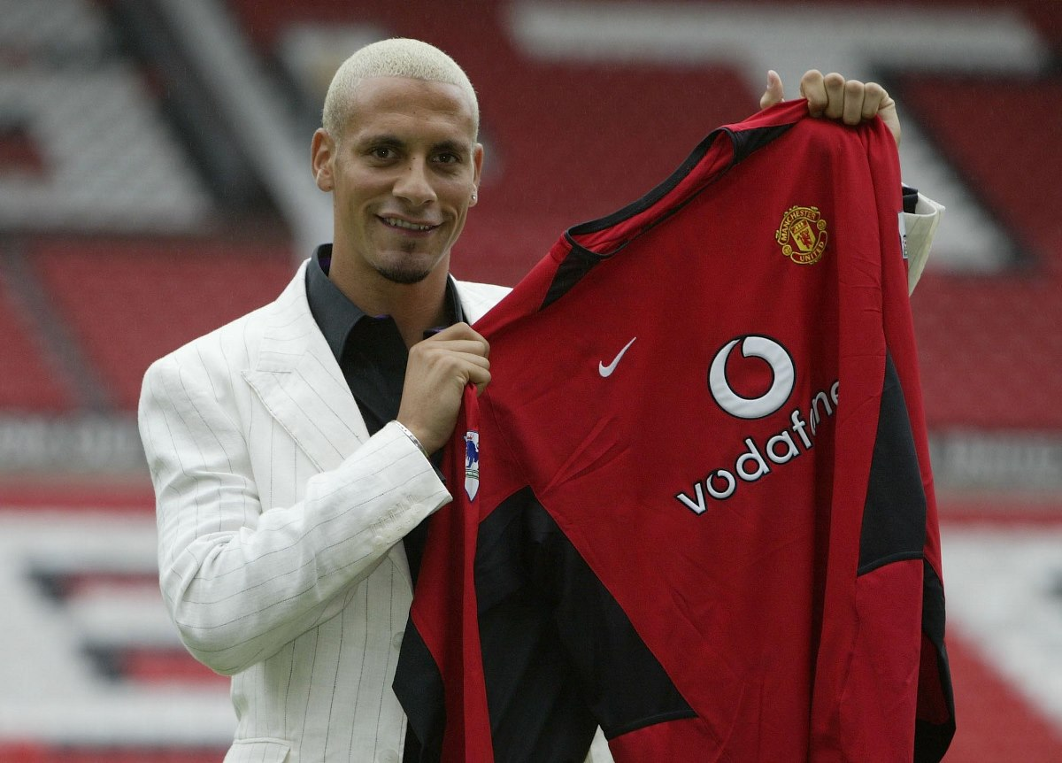 Rio Ferdinand signed for Manchester United in 2002