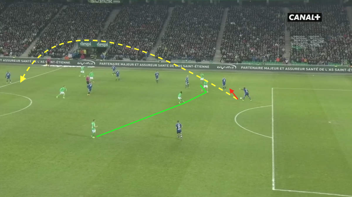 Saint-Etienne did a great job in pressing the Lyon defence.