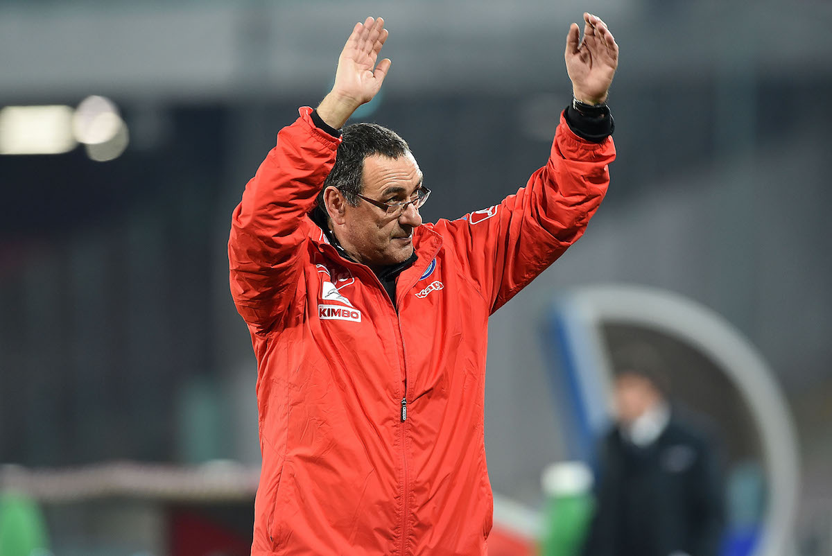 Maurizio Sarri coach of SSC Napoli