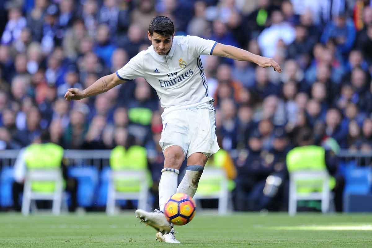 Real Madrid striker Alvaro Morata