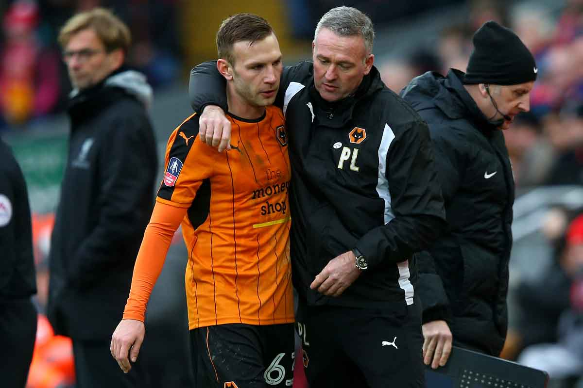 Andreas Weimann and Paul Lambert at Wolves
