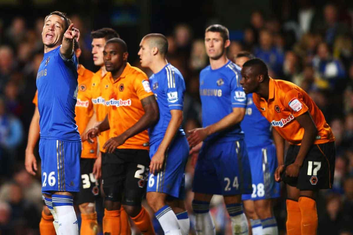 Chelsea v Wolves in 2012