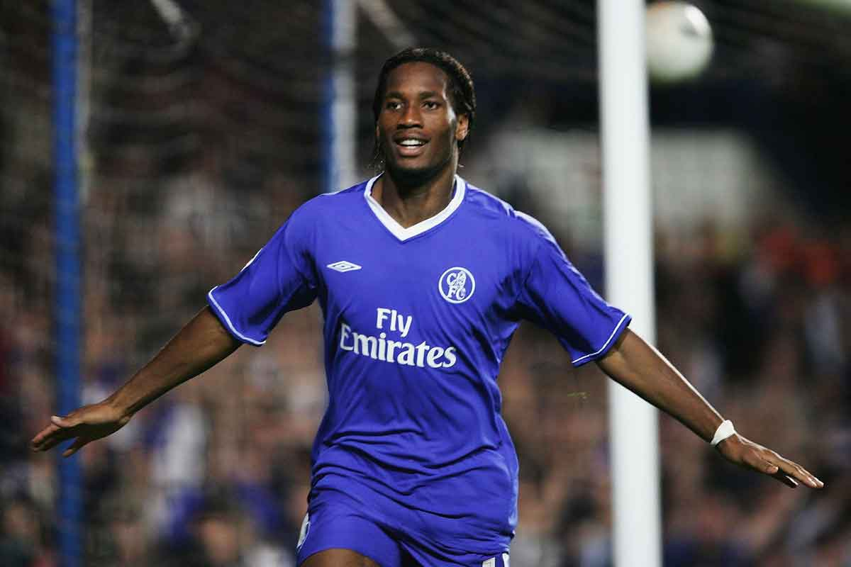 Didier Drogba at Chelsea in 2004