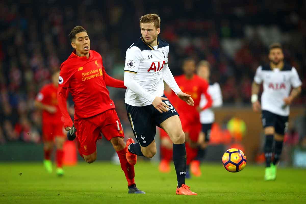 Tottenham defender Eric Dier against Liverpool