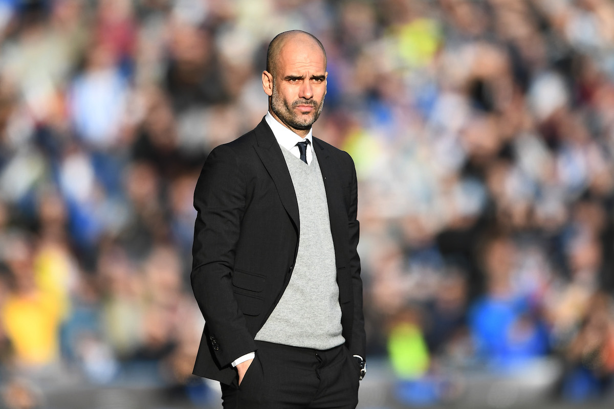 Pep Guardiola of Manchester City