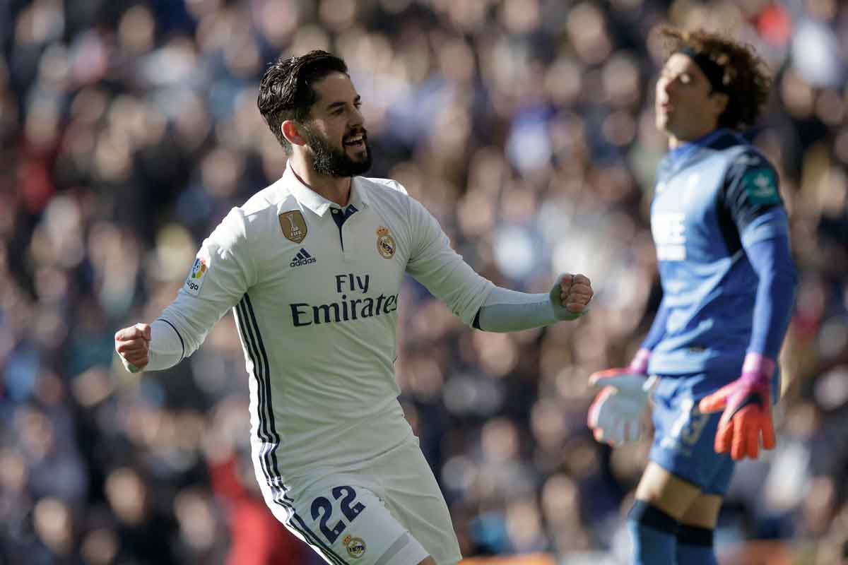 Isco in action for Real Madrid against Granada