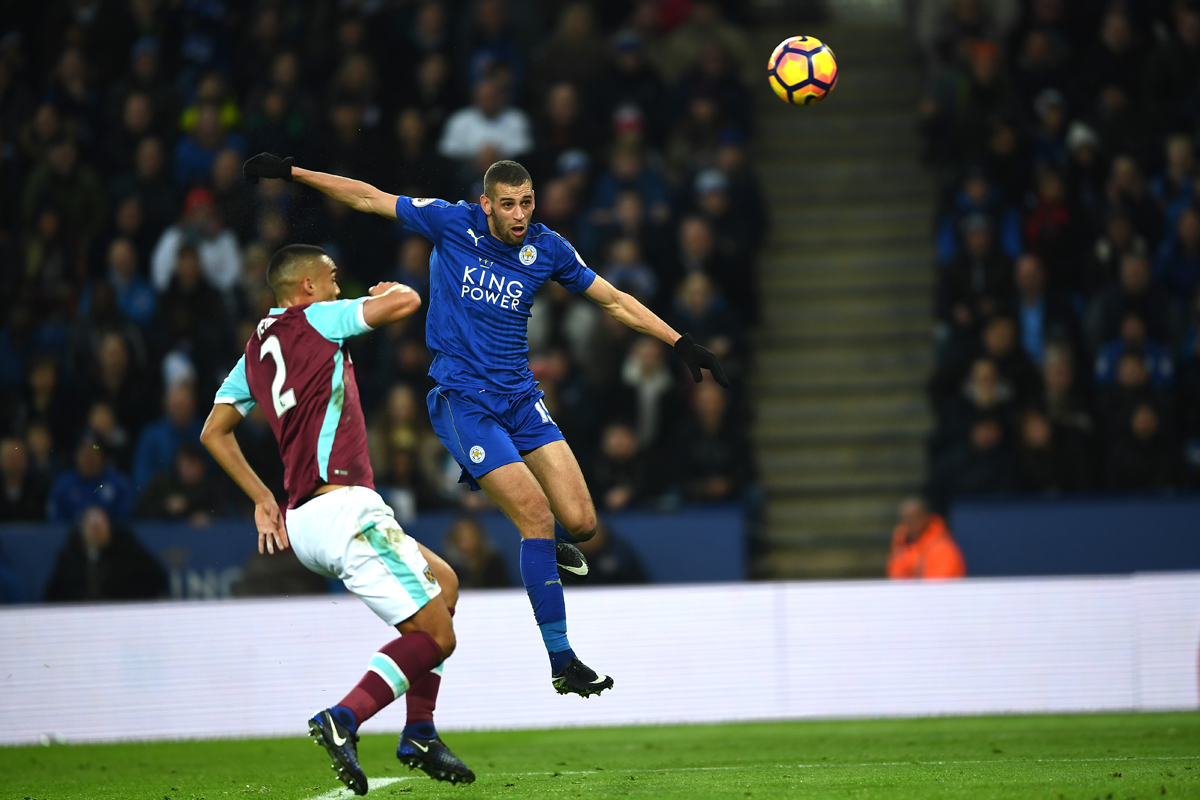 Leicester forward Islam Slimani