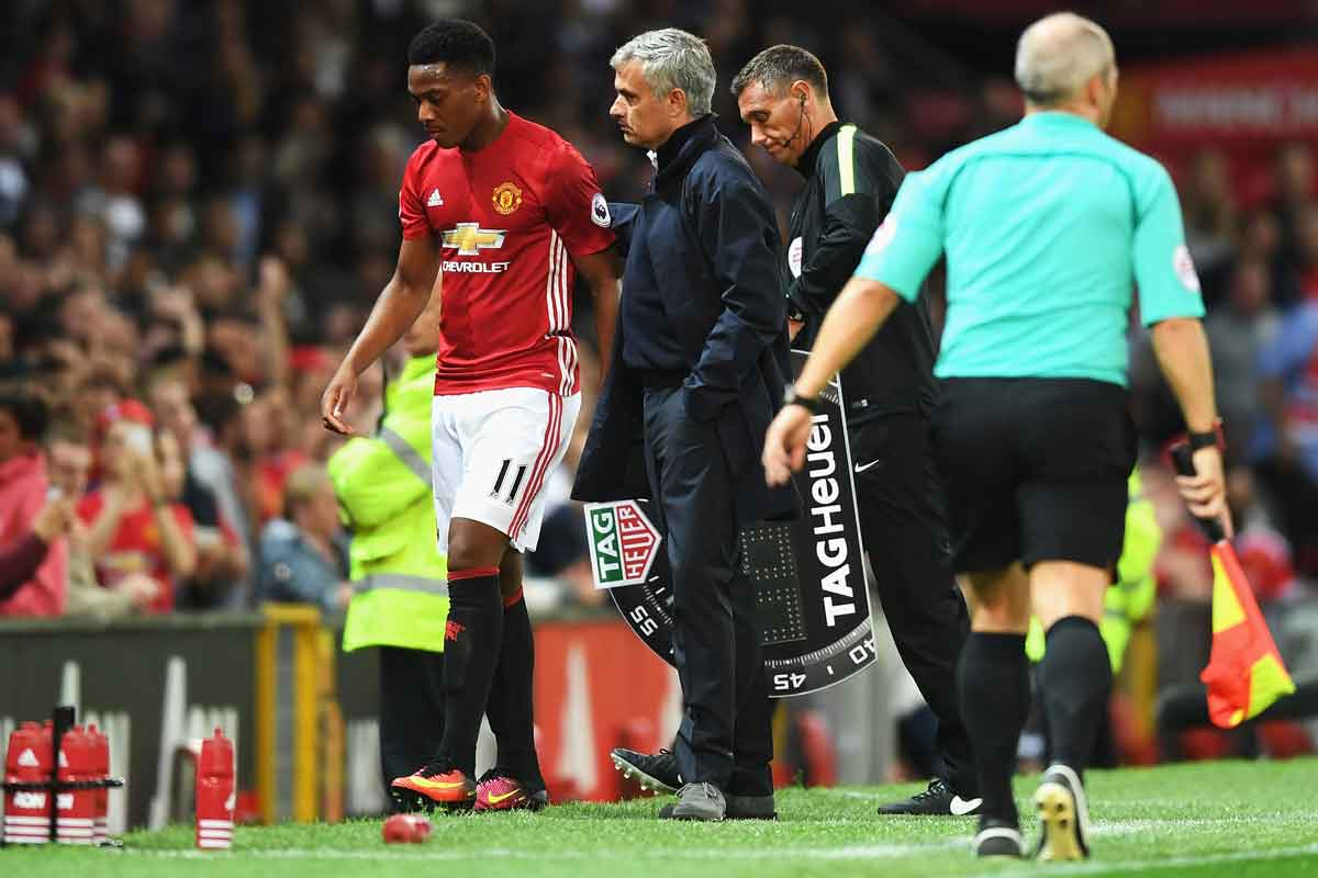 Anthony Martial has been frustrated by Jose Mourinho's treatment of him