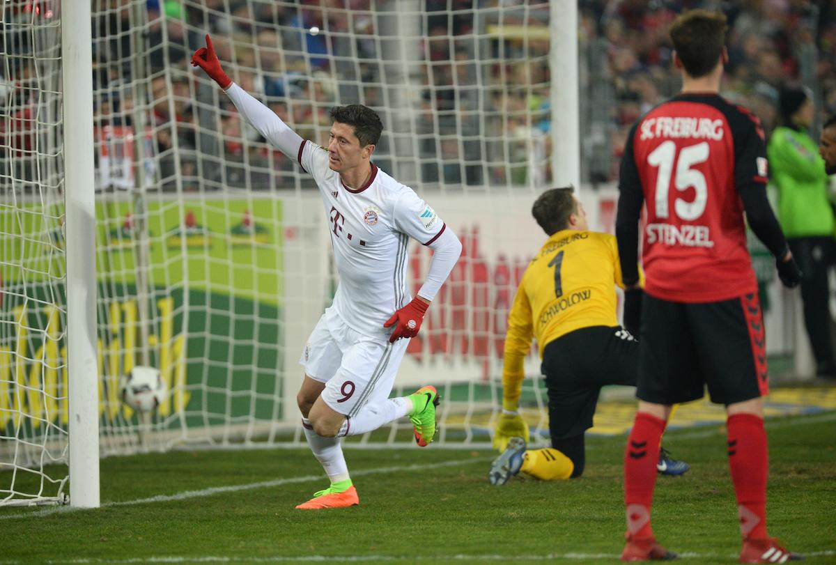 Bayern's Robert Lewandowski