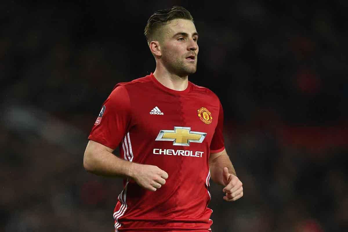 Manchester United left-back Luke Shaw