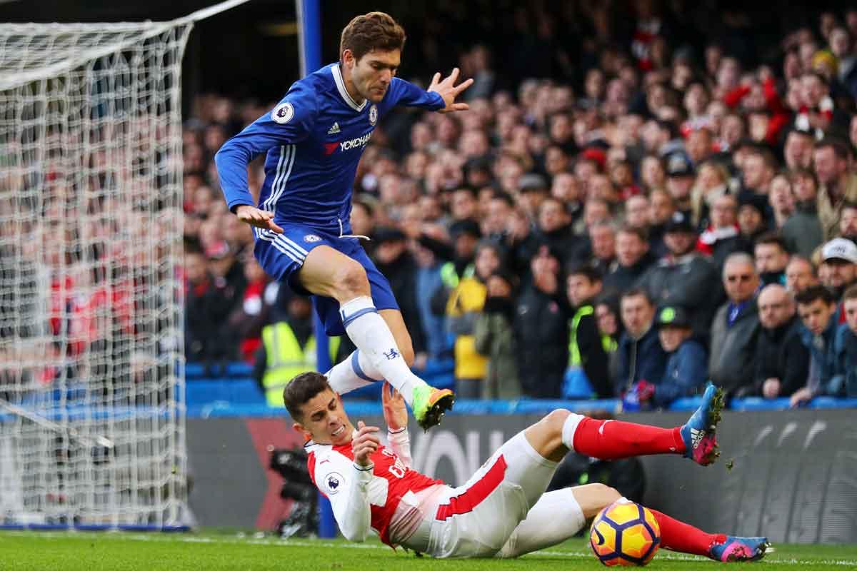 Chelsea's first goalscorer Marcos Alonso