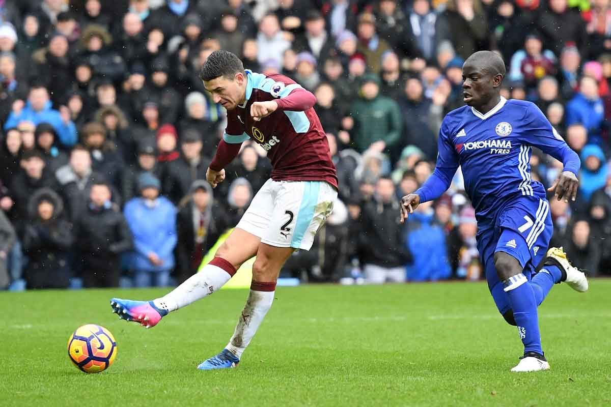 Matthew Lowton and N'Golo Kante