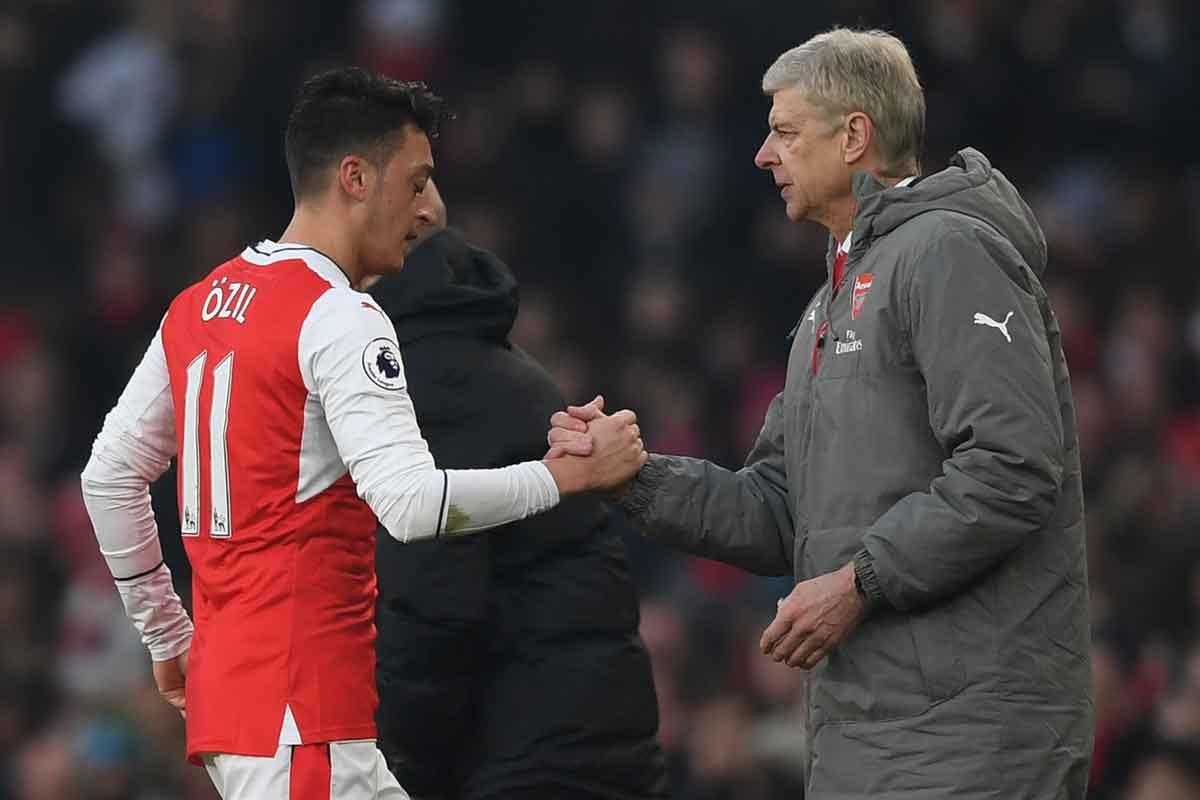 Arsenal duo Mesut Ozil and Arsene Wenger