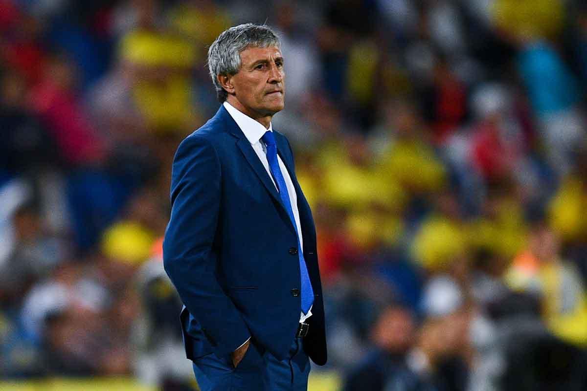Las Palmas manager Quique Setién
