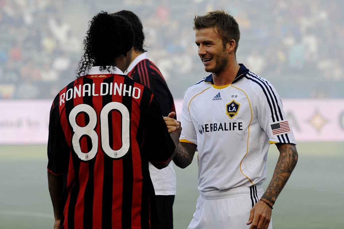 Ronaldinho and David Beckham