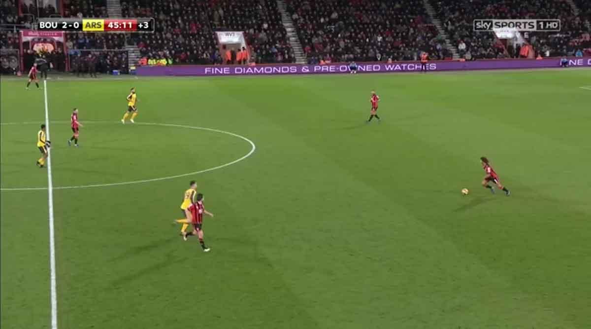 Nathan Ake, Bournemouth v Arsenal