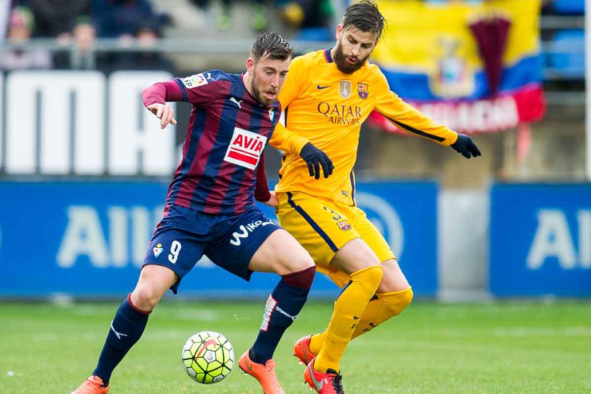 Eibar striker Sergi Enrich