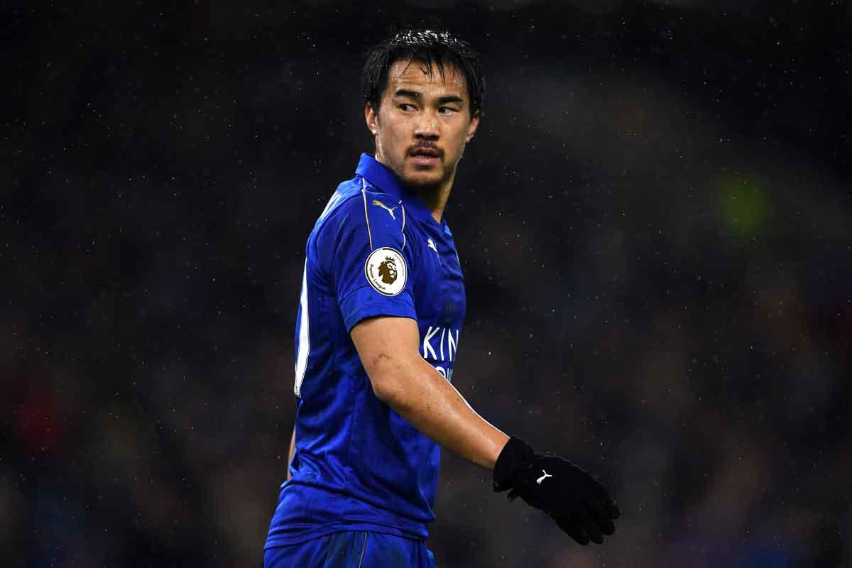 Leicester forward Shinji Okazaki