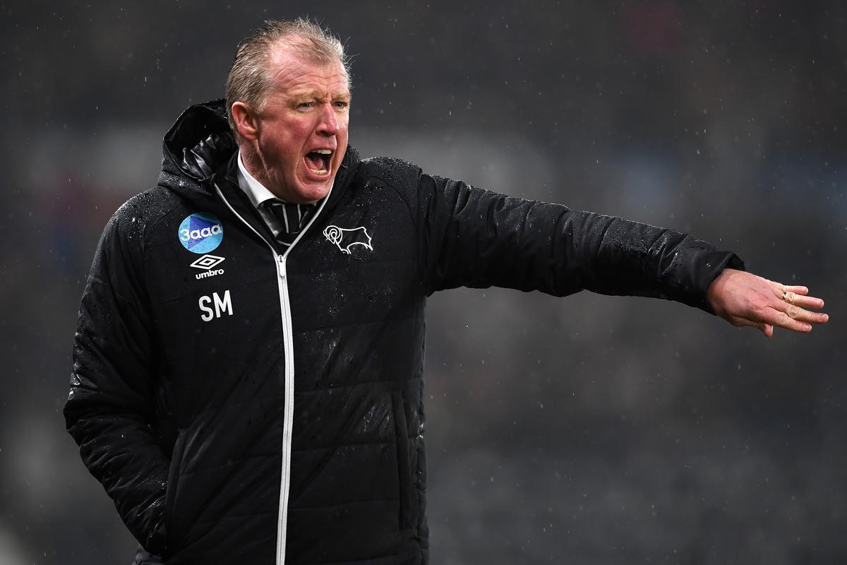 Derby boss Steve McClaren