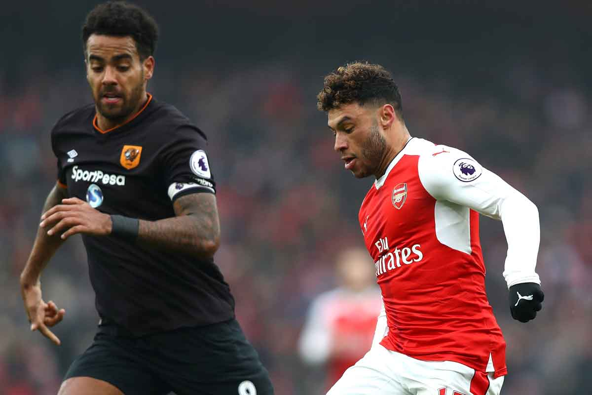 Tom Huddlestone and Alex Oxlade-Chamberlain, Arsenal v Hull