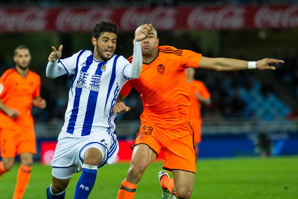 Real Sociedad forward Carlos Vela